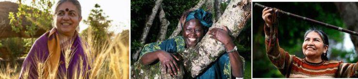 Vandana, Wangari y Tarcila