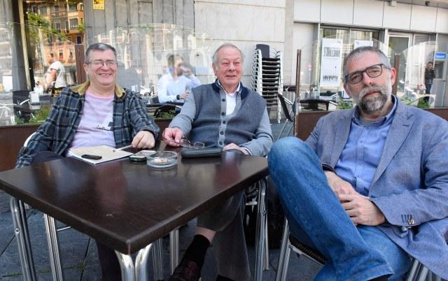 Eduardo Alegría, José María Lopetegui e Iñigo Royo, miembros de la actual junta directiva